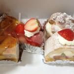 ノエル - マンゴータルト、夏の苺タルト、リンゴケーキ、シュークリーム、フルーツロール