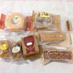 ノエル - 焼きドーナツレモン、西条の栗、ヌス、フロランタン、栗のケーキ、栗豆と虎豆のケーキ