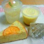 ガトー ドゥ サクラ - グレープフルーツゼリー・プリン・清見オレンジのケーキ・バナナブレッド