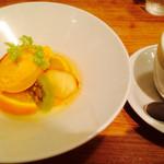 42789093 - (H.27.10)プリモディナーセット・季節のデザート&カフェオレ