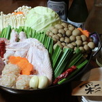 骨付鳥 しき - 宮崎地鶏のキムチ鍋 二番に気! キムチ好きな人にお勧めです