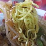 ラーメン 阿里山 - チャーメンの麺