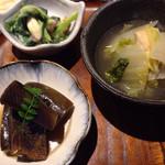 蕎麦の実 よしむら - おばんざい三品@740