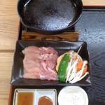 仲町食堂 - 仲町食堂(鹿児島県出水市本町)地鶏のステーキ