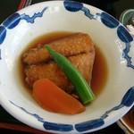 お宿 うおたけ - お刺身定食の煮魚2015年