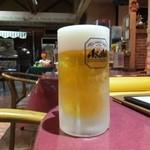 パームスプリングスファミリーレストランアンドゴルフレンジ - 2015.10.07撮影       生ビール(中)       冷え冷えのジョッキが嬉しい