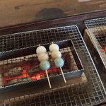 Miharashikafechaya - (2015/09/26)いろり団子を炙る