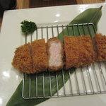 平田牧場 匠 - 平牧三元豚厚切りロースかつ膳:1800円