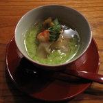 蛍屋 - くずし豆腐(梅貝・さいまきエビ・賀茂茄子)