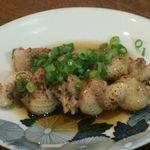 ごはん屋進 - 鶏皮ポン酢(鹿野産ピヨ)