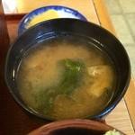 中清 - シメに沢庵味噌汁!