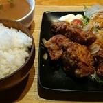 うまい魚とイタリアン yu-ma - 【食べログワンコインランチ】唐揚定食