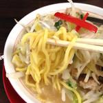 42818525 - 竹ちゃんタンメンの中太麺