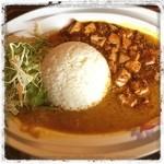 中国面点研究所 紫禁城 - ハーフアンドハーフと言いながら混ざり合ったカレーと麻婆豆腐