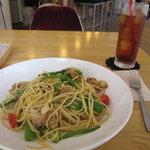STEP STAMP cafe - 今週のパスタ:夏野菜とホタテ