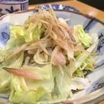 銀座 菊正 - 茗荷のサラダ。単純だが旨い。自宅で真似したくなる