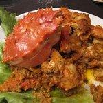 WOLLONG悟龍 - 料理写真:WOLLONG名物・タラバ蟹のカニみそ四川炒め