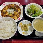 成明茶楼 - 料理写真:麻婆定食(大盛り)(2015年10月)
