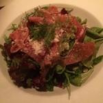 sol saliente - 生ハムとハーブ野菜のサラダ