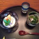 料理茶屋芭蕉 - 豆腐と小松菜