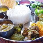 Spice&Dining KALA - ランチミールスにノンベジカレー2品