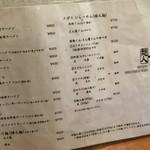 麺人 しょう太郎丸 - メニゥ