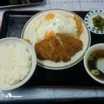 黄河楼 - 上カツ定食 1000円