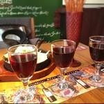 ITALIAN RESTAURANT & BAR GOHAN - ワイン3種飲み比べ〜。どれも美味しかった♪ヽ(*´∀`)ノ