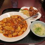 42852789 - マーボー丼セット(850円 税込)