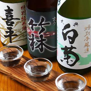 岡山の地酒を楽しめます。
