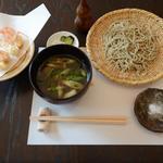42855637 - 鴨せいろ蕎麦&天使の海老天ぷら