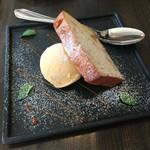 ダ・モコ - マロンのパウンドケーキ、バニラアイス添え