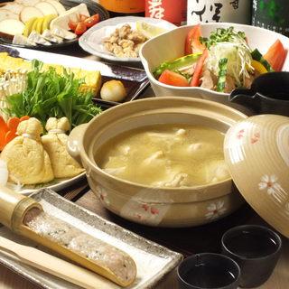 【数量限定/要予約】逢鳥特製『水炊き鍋』コースが人気
