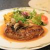 肉の割烹 田村 - 料理写真:ハンバーグステーキ和風きのこソース  ¥980