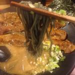 豚烏 - 豚肉そば 並(1100円)