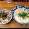 ちりめん家 - 料理写真:とんこつラーメンと特製焼豚丼