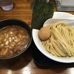 自家製麺ばくばく - 味玉濃厚つけ麺¥880。
