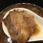 自家製麺ばくばく - 材木状にカットされたチャーシュー。トロントロンの仕上がり。