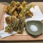 三代目 まる天 - 木ノ子と秋野菜の天ぷら