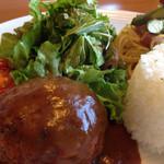 桂木4丁目レストラン - ワンディッシュランチ 1000円 このハンバーグ、とってもお気に入り。
