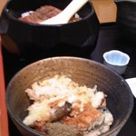 海鮮茶屋 一鮮 - 鰻ひつまぶしをお茶椀によそってみる♪w