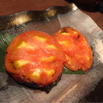 炉とマタギ - 焼きトマト
