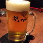 炉とマタギ - ビールはプレモル