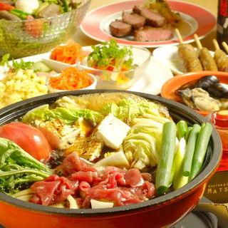ご宴会等にも最適なコース料理(飲放付)を4000円~ご用意
