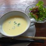 Sweet Spice Asano - メインのスープ&サラダ