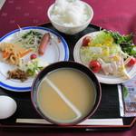 水沢翠明荘 - 朝食です