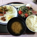 水沢翠明荘 - 2015年9月の朝食です