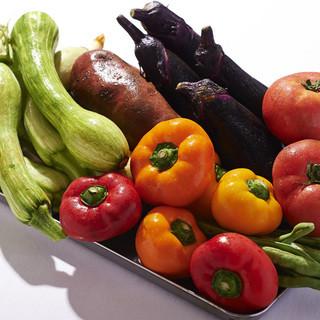 産地直送の食材とフレンチとのコラボレーション