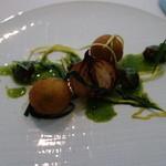 42875471 - 前菜2:ブルゴーニュ産エスカルゴのブレゼと白金豚を詰めた金時芋のクロケット