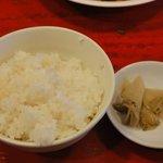 中国料理 四川 - ご飯&ザーサイ